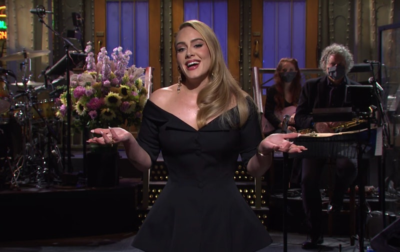 Adele giving her 'SNL' monologue on Oct.  24.