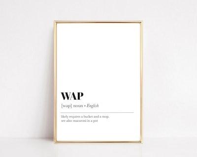 "Kiki & Nim's ""WAP"" Definition Print"