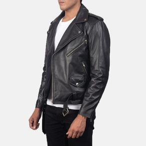 Allaric Alley Black Leather Biker Jacket