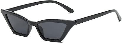FEISEDY Small Cat Eye Sunglasses Vintage Square Shade Eyewear