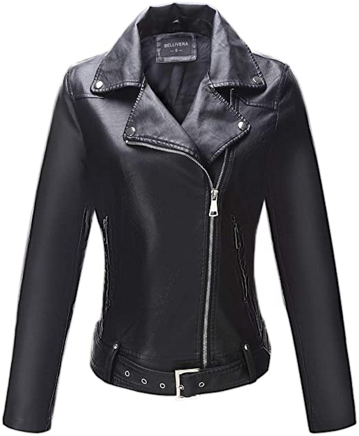 Bellivera Women's Faux Leather Jacket