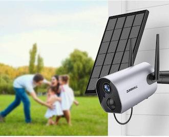 AMICCOM Solar Panel Compatible with Zumimall Wireless Camera