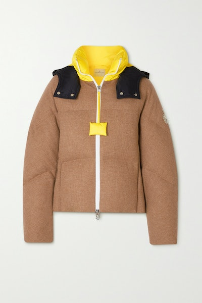 Moncler Genius + 1 JW Anderson Stonory Hooded Quilted Wool and Shell Down Jacket