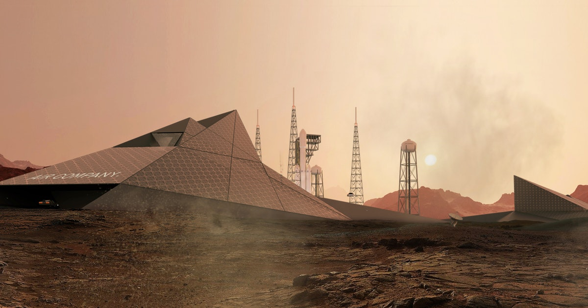 SpaceX Mars city: 4 stunning concept images show planet's fuel station
