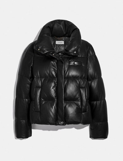 Coach Leather Puffer Blouson