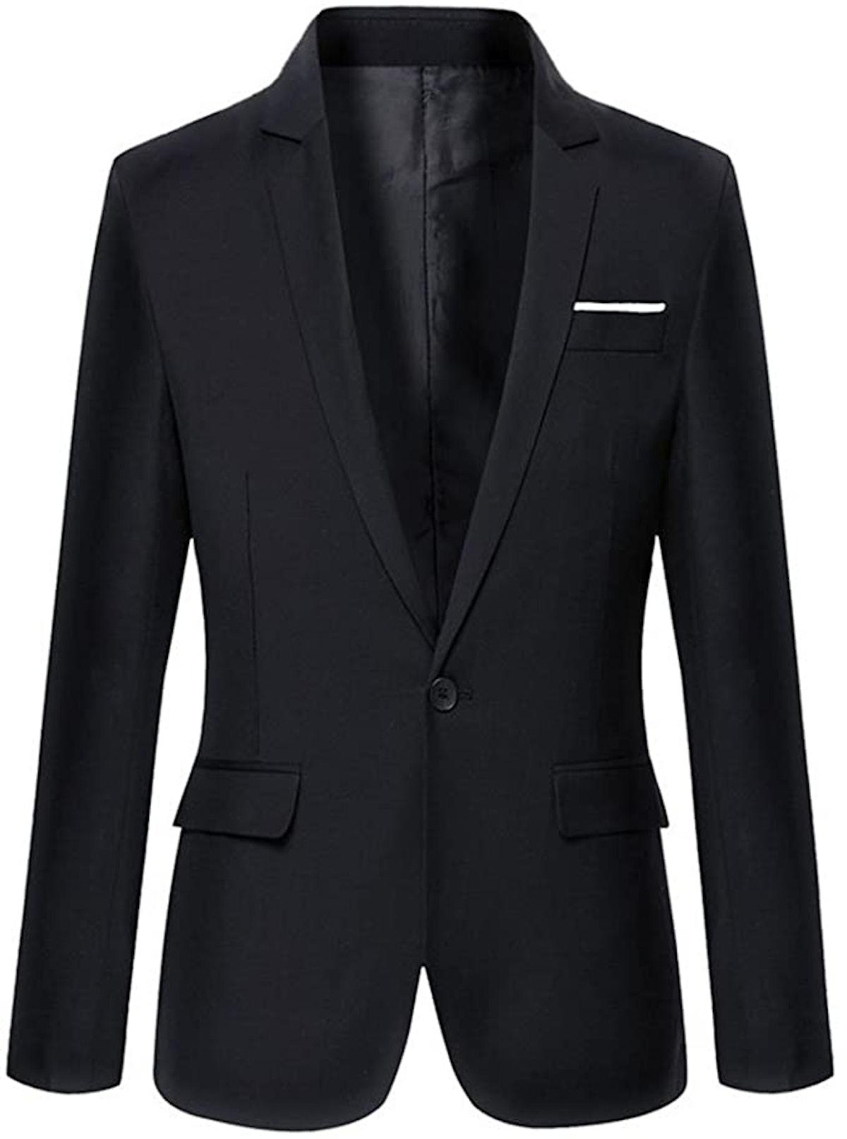 Beninos Store Men's Slim Fit Casual One Button Blazer Jacket
