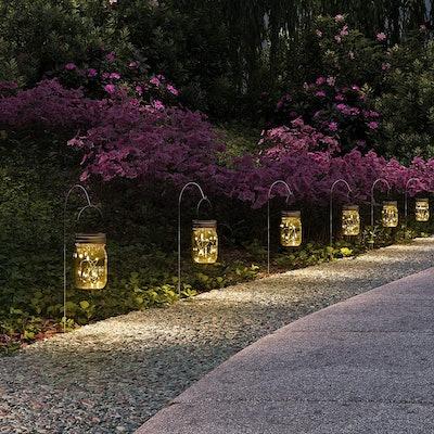 Gigalumi Hanging Solar Mason Jar Lid Lights (6-Pack)