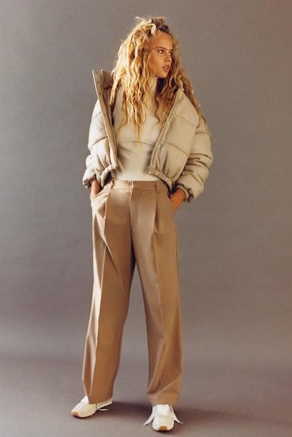 Zara Faux Leather Padded Jacket