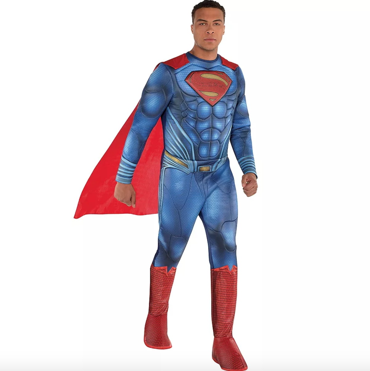 Dale Moss wore a Superman costume for Party City.