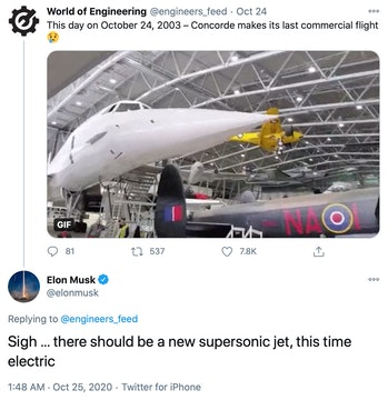 Musk's comments.