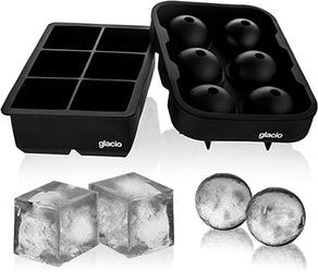 glacio Ice Cube Trays Combo Mold (2-Pack)