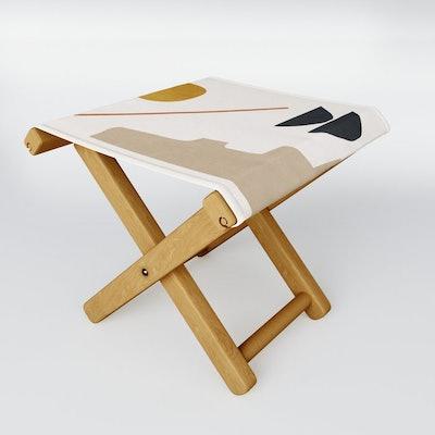 Abstract Minimal Folding Stool