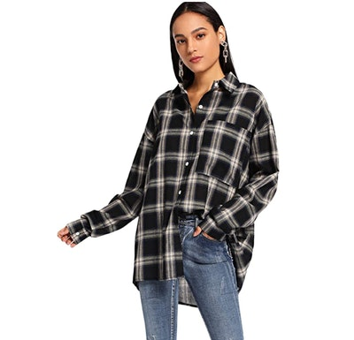 SweatyRocks Flannel