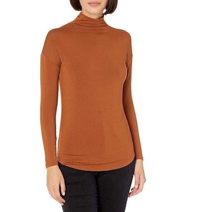Daily Ritual Jersey Long-Sleeve Funnel-Neck Shirt