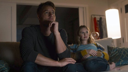 Justin Hartley and Caitlin Thompson as Kevin and Madison on 'This Is Us' via NBC Press Site