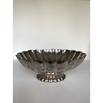 Mid 20th Century Reed & Barton Silver Scalloped Bowl