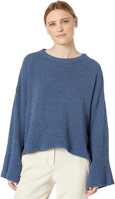 Splendid Flare Sleeve Crewneck Pullover Sweater