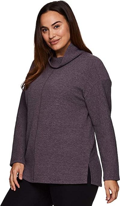 RBX Active Plus Size Mock Neck Sweatshirt