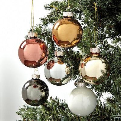 Mixed Metals Glass Ornaments