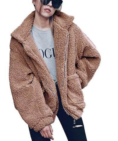 PRETTYGARDEN Faux Shearling Jacket