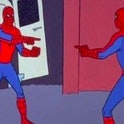 Double Spider-Man imposter meme from 1960s cartoon