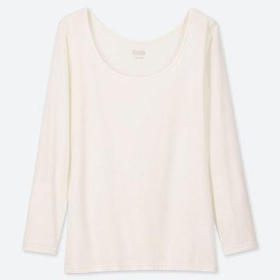 Heattech Scoop Neck Long-Sleeve T-Shirt