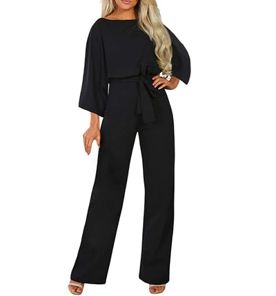 Happy Sailed Belted Wide Leg Jumpsuit