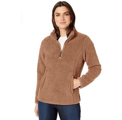 Amazon Essentials Lined Sherpa Quarter-Zip Jacket