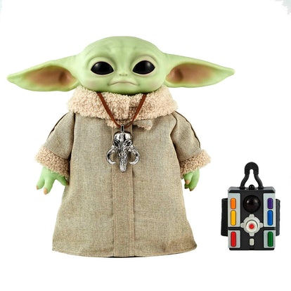 The Baby Yoda plush robot has a remote control that looks straight out of 'Star Wars.'