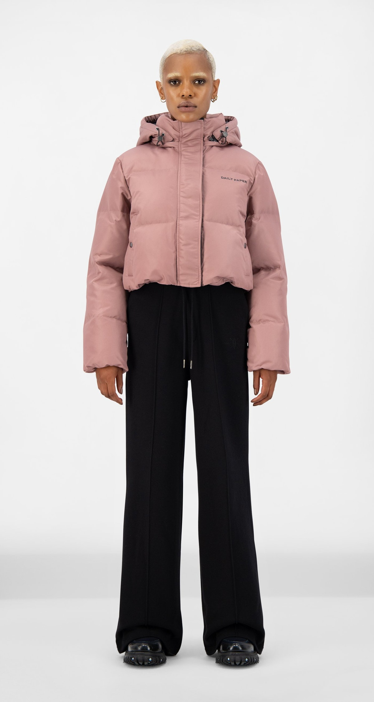 Daily Paper Mauve Pink Epuff Cropped Jacket
