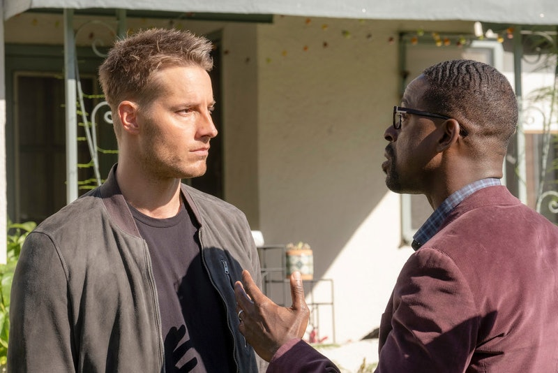 Justin and Hartley and Sterling K. Brown as Kevin and Randall Pearson in 'This Is Us' via NBC Press Site