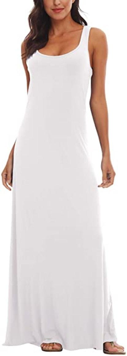 Urban CoCo Women's Sleeveless Tank Top Maxi Dress