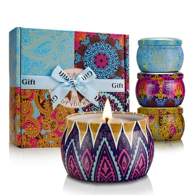 Y YUEGANG Tin Candle Set (4-Pack)