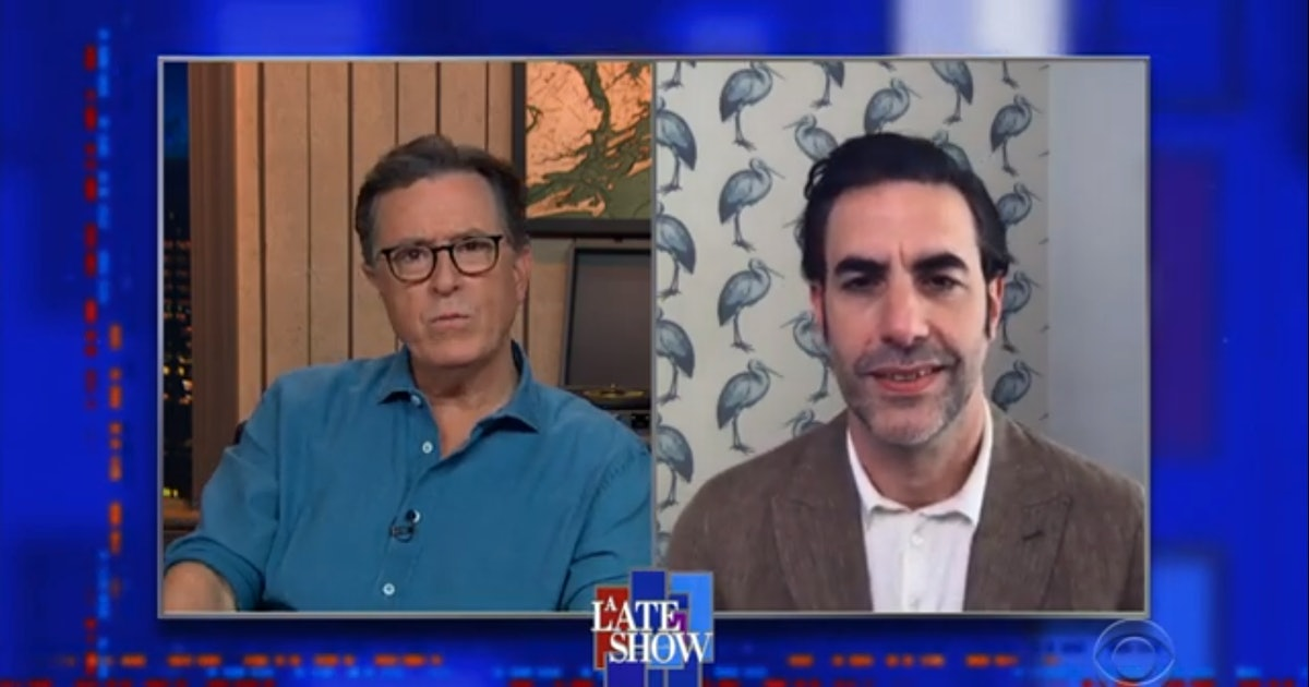 Sacha Baron Cohen tells Colbert how the Borat sequel almost turned deadly