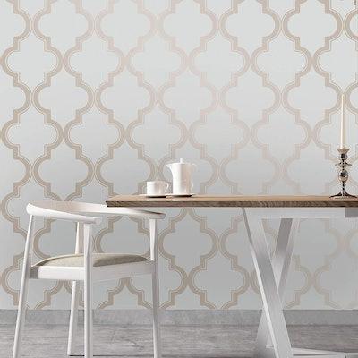 Tempaper Bronze and Gray Wallpaper