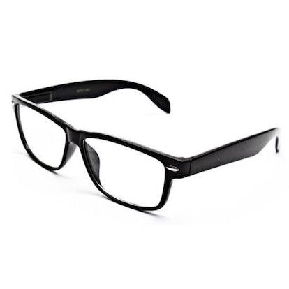 Grinder Punch Smart Black Interview Generic Nerd Fashion Rectangular Clear Lens Glasses fake
