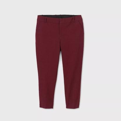 Ava & Viv Women's Plus Size Mid-Rise Ankle Length Pants