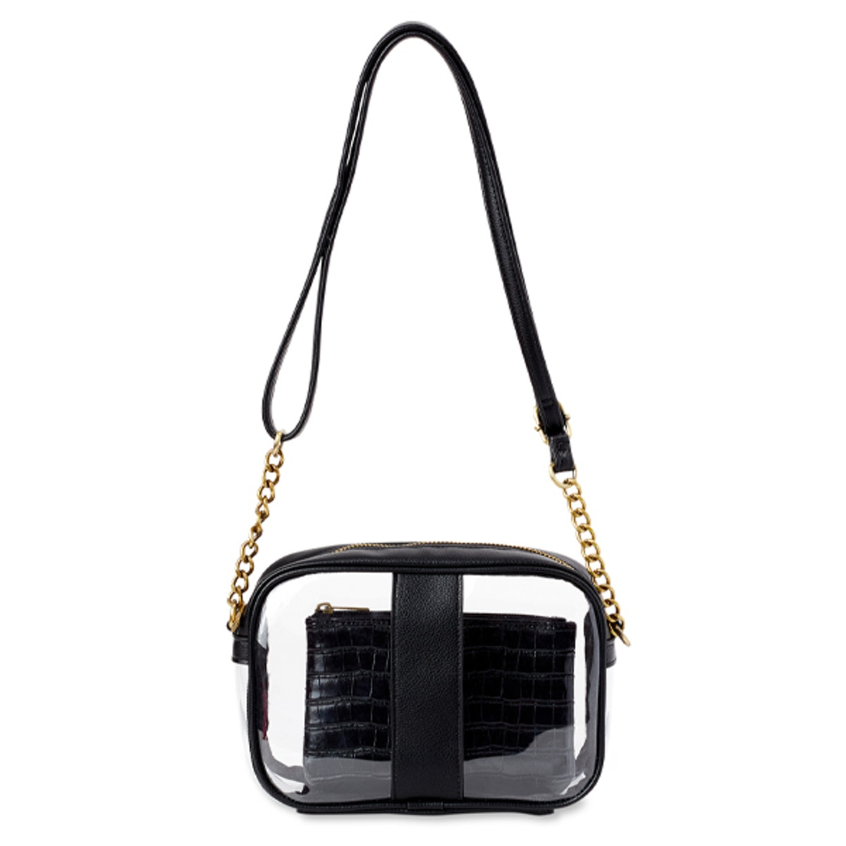 Clear Camera Crossbody with Pouch