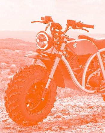 Volcon Grunt fat-tire e-motorcycle.
