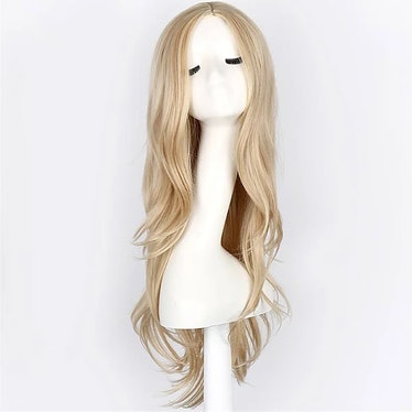Light in the Box Cosplay Costume Wig Synthetic Wig Cosplay Wig Wavy Wavy Wig Blonde Blonde Synthetic...