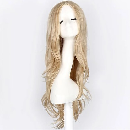 Light in the Box Cosplay Costume Wig Synthetic Wig Cosplay Wig Wavy Wavy Wig Blonde Blonde Synthetic Hair Blonde #05142392