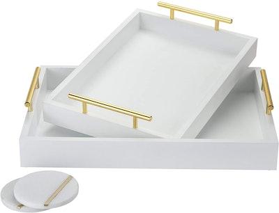 Novus Luxe Decorative Trays (2-Pack)