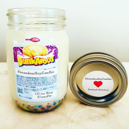 Dunkaroo Themed Candle