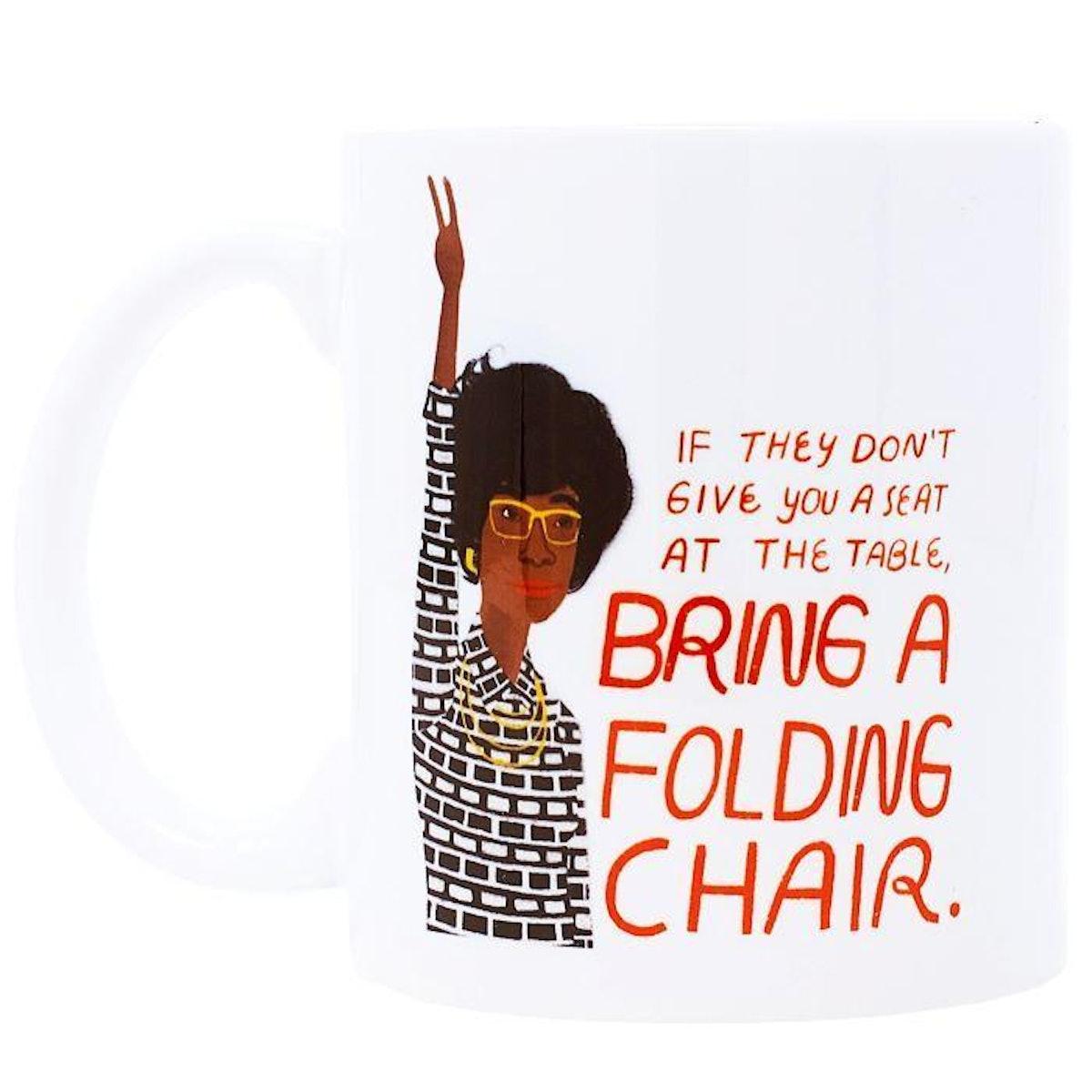 Bring a Folding Chair Ceramic Coffee Mug