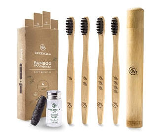 Greenzla Bamboo Toothbrushes (4-Pack)