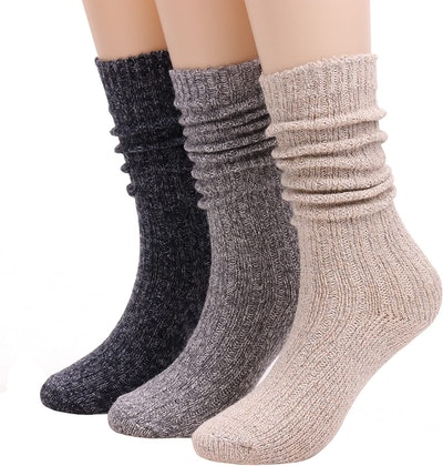TINTAO Wool Boot Socks (3-Pack)