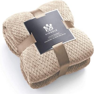 Kingole Flannel Fleece Blanket