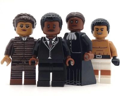 Civil Rights LEGOs: Rosa Parks, Dr. King, Harriet Tubman, Muhammad Ali (3+)