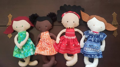 "Lovie Beans Customizable 14"" Rag Doll (2+)"