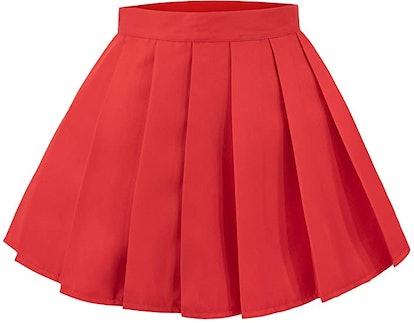C-ZOFEK Velma Dinkley Cosplay Costume Women's Knitted Jumper Pullover Pleated Skirt